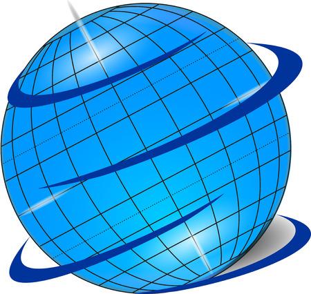 longitude: Original blue globe
