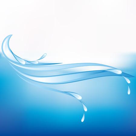 splash de agua: Mar de fondo azul abstracto