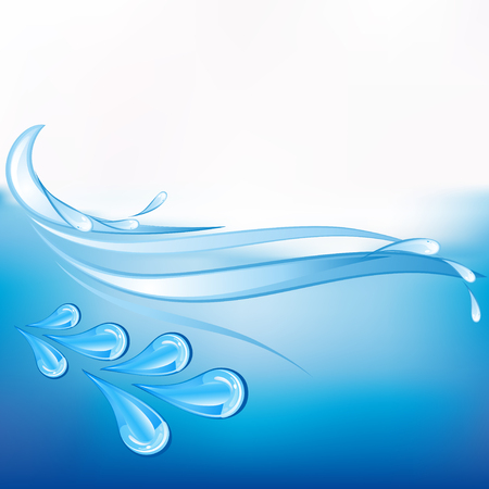 dewdrops: Abstract blue sea background