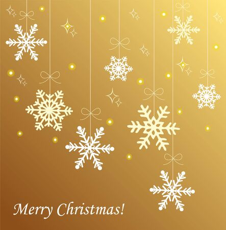 patch of light: Christmas card with white snowflakes