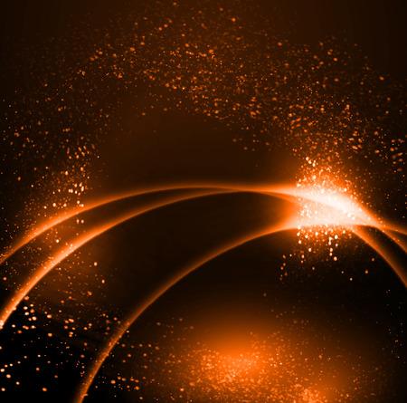 Sole che sorge sopra il pianeta Vettoriali