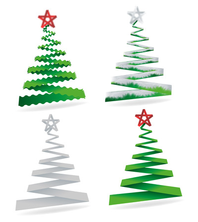 Elegant symbolic Christmas trees collection