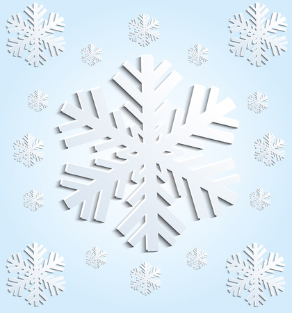 Christmas card with snowflakes.