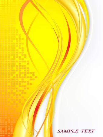 Abstract yellow card for office Illustration