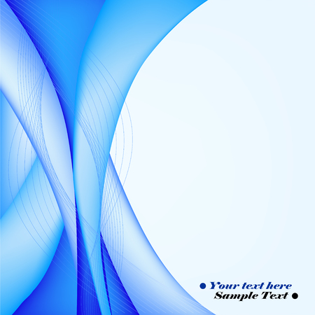 Abstract blue card for office
