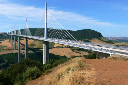 millau: France, millau viaduct Editorial