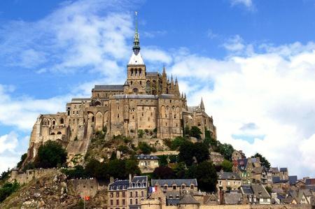 mont: Abbey of Mont Saint-Michel, Normandy, France Stock Photo