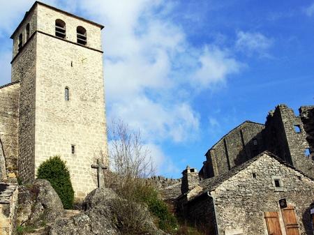 templars: village of the Templars La Couvertoirade, Aveyron, France