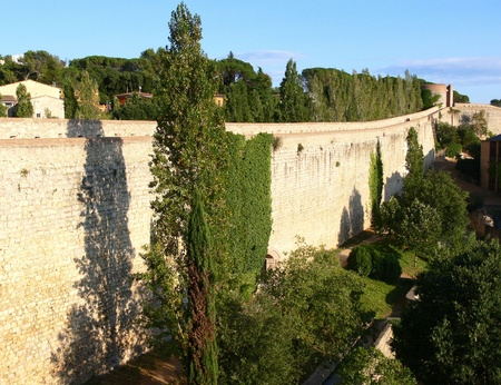 ramparts: Spain, ramparts of old city of Girona