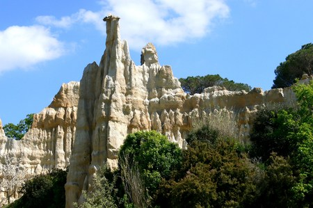 Natural site of the stone organ at Ille-sur-Tet, Pyrenees Orientales, France