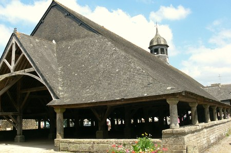 Halles of the village Le Faouet, Morbihan, France