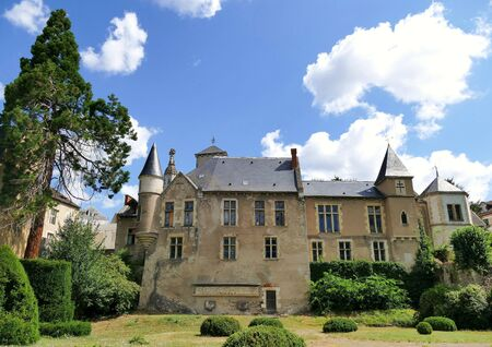 Former bailiwick house of the 16th century called? Castel Franc? in the city of Vichy, Allier, France