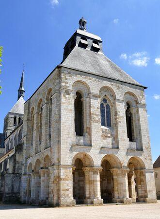 The gatehouse of the Fleury abbey in Saint-Benoît-sur-Loire, Loiret, France