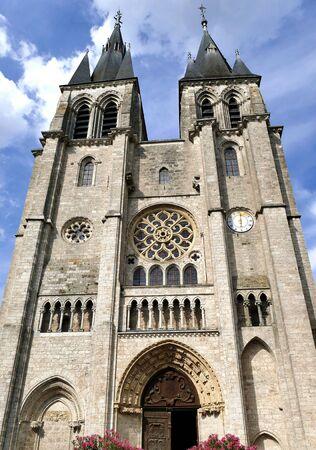 Facade of the Saint Nicholas Church in Blois, Loir et Cher, France