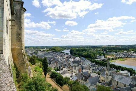The vineyard near the Royal City of Chinon on the banks of the Vienne