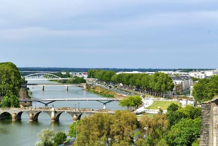 The Maine River Bridge in Angers