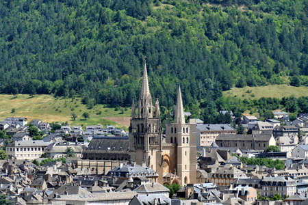 Notre-Dame-et-Saint-Privat cathedral overlooking the city of Mende