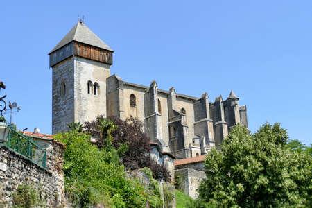 The Sainte-Marie cathedral dominating the village of Saint-Bertrand-de-Comminges