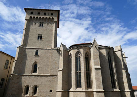The Clementine tower and the apse of the Saint-Robert abbey in La Chaise-Dieu