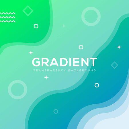 Green Gradient Background Transparent,prefer for banner,background,social media and more Ilustrace