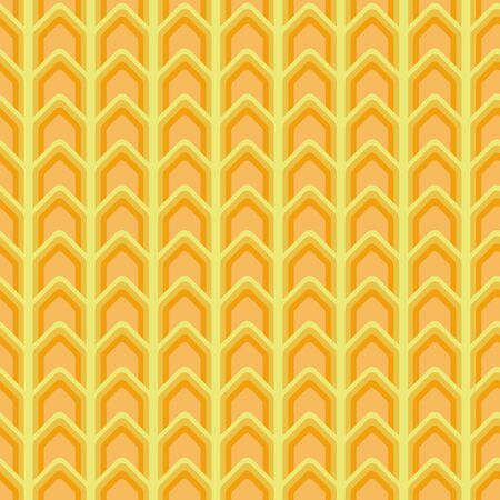 A seamless vector chevron pattern in yellow and orange colors. Surface print design.