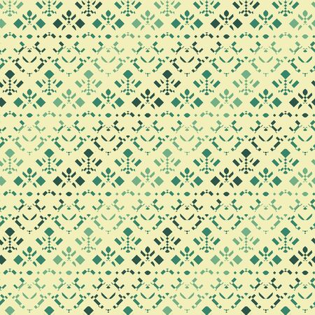 A seamless vector pattern with geometric shapes in ornate lacy layout. Surface print design.