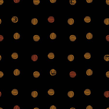 A seamless vector pattern with halloween pumpkins. Surface print design.