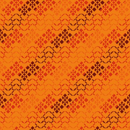 A seamless vector abstract geometric pattern in orange colors. Surface print design.