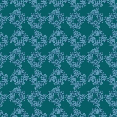 A seamless vector lacy pattern with butterflies ornament. Surface print design.