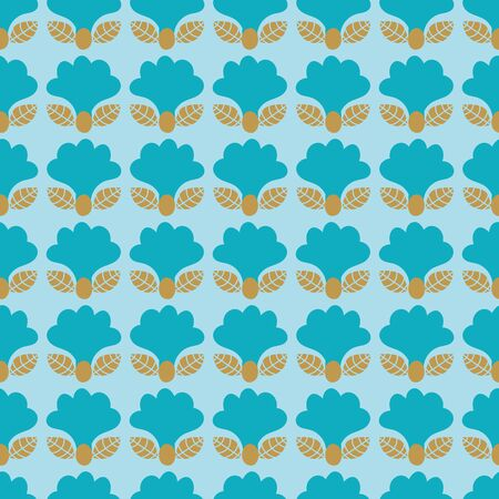A seamless vector pattern with simple bluebell flowers on a pale blue background. Surface print design. 写真素材 - 129701869