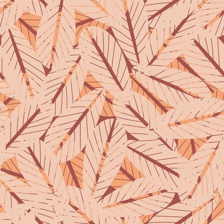 pattern with dry autumn leaves. Surface print design.