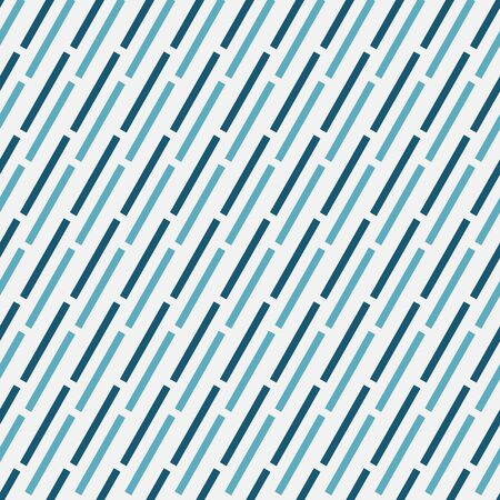 A simple seamless vector abstract pattern with teal andblue dashed diagonal lines on a white background. Mminimal unisex srface print design. Çizim