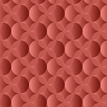 A seamless vector pattern with red paperct ornament. Decorative surface print design. Great for backgrounds, cards, wrapping paper and packaging