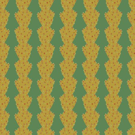 A seamless vector pattern with succulent stripes in green colors. Surface print design. Иллюстрация