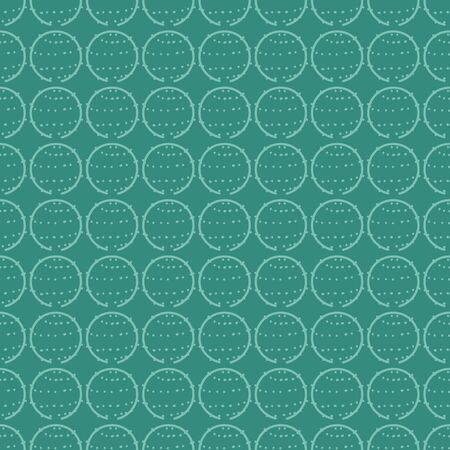 A seamless vector geometric pattern with round succculent inspired dotted circles. Minimal surface print design. Great for backgrounds, textiles and stationery.