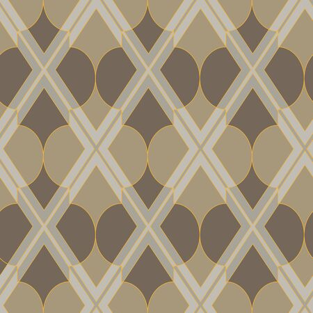 A seamless vector pattern with geometric mosaic in calm stone colors. Unisex surface print design.