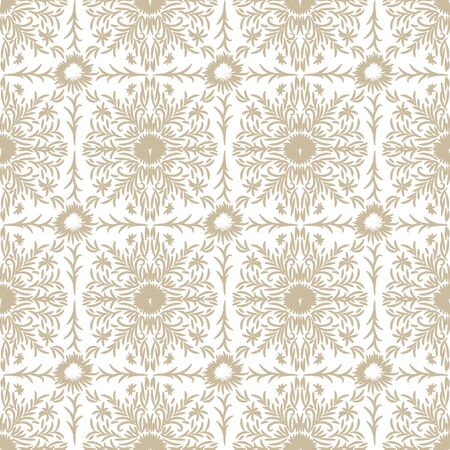A seamless vector pattern with botanical lace squares in light colors. Vintage surface print design. Great for backgeounds, stationery, wedding cards, invitations and gift wrap.