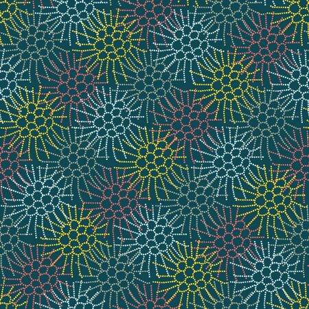 A seamless vector pattern with colorful blackberries outlines. Surface print design.