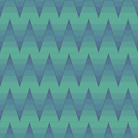 A seamless vector pattern with ombre zig zag in teal colors. Surface print design. Иллюстрация