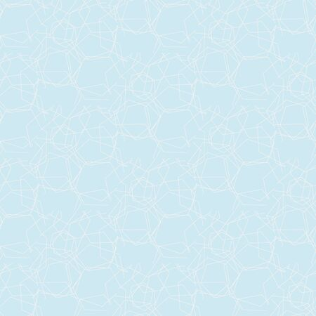 A seamless vector abstract patern with light aqua blue background and white linear texture. Calm sparkling water surface. Çizim