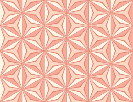A seamless geometric vector pattern with star shaped mosaic tiles in pink colors. Decorative abstract surface print design. Great for backgrounds, wrapping paper and fabrics.s