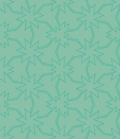 An abstract tessellation seamless vector pattern in jade green color. Decorative unise surface print design. Great for bakgroundt, packaging and minimal stationery.