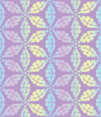 A seamless vector tessellation pattern in iridescent pastel gradient. Decorative abstract surface print design. Great for stationery, packaging and textiles Stock Illustratie
