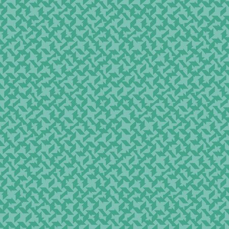 A seamless vector abstract pattern with random polygons in mint green colors. Unisex surface print design. Stock Illustratie