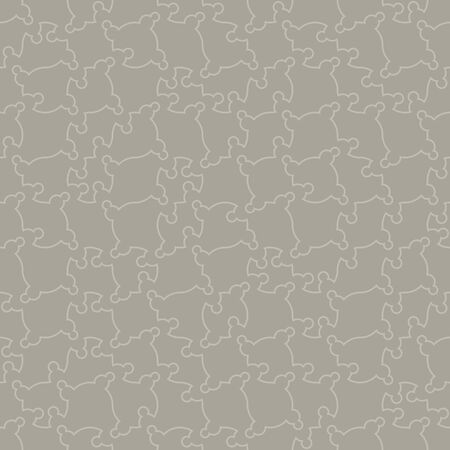 A seamless vector pattern background with grey abstract linear shapes. Surface print design.