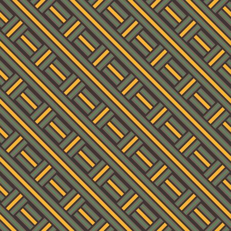 A seamless vector pattern with wicker basket lines. Unisex geometric surface print design.