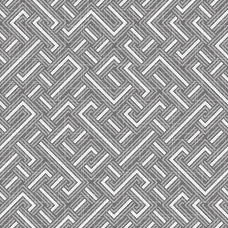 An abstract geometric textured seamless vector pattern with grey lines. Unisex surface print design in calm colorway. Stock Illustratie