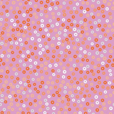A pink and orange sequins seamless vector pattern background. Girly decorative surface print design. 일러스트