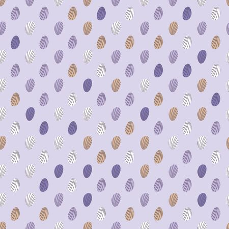 Abstract seamless vector pattern with striped dots on violet background. Simple pastel surface print design. Great for fabrics, wrapping paper and packaging.