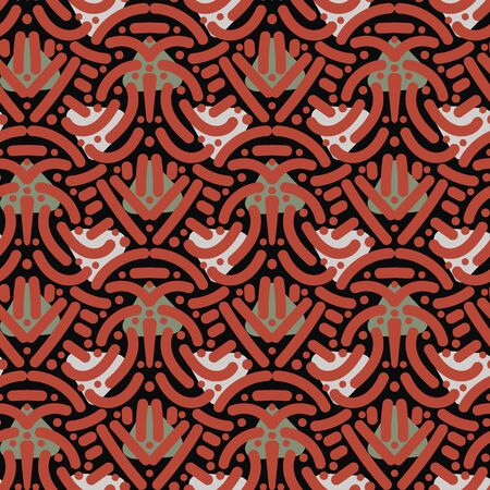 Abstract geometric ethnic seamless pattern with lines and triangles. Ilustrace